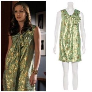 3.1 Phillip Lim green/gold brocade Shift Dress 2